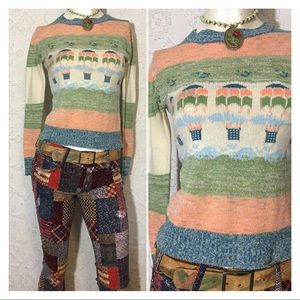 Super Cute Vintage 70's Parachute Pullover Sweater